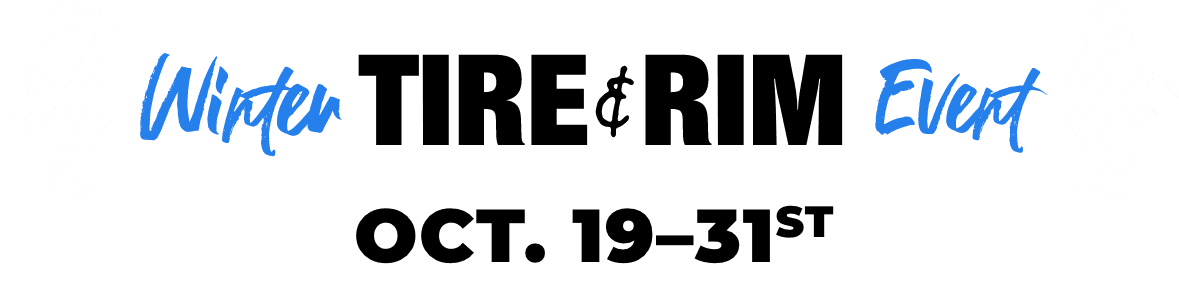 Winter Tire and Rim Event October 19 to 31, 2020